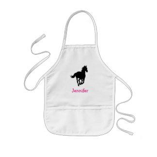 PferdeSilhouette-Diamant-Muster-Gewohnheit Kinderschürze
