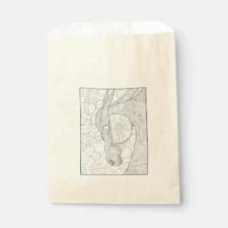 Pferdestärken-Linie Kunst-Entwurf Geschenktütchen