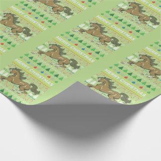 Pferdetier-frohe Weihnacht-hässliche Geschenkpapier