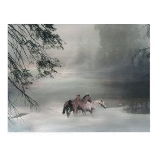 Pferdeweihnachten, Feiertags-Postkarten Postkarte