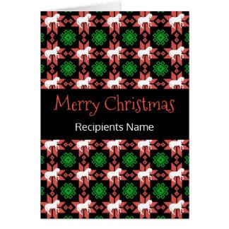Pferdeweihnachtskarte - frohe Weihnacht-Muster Karte
