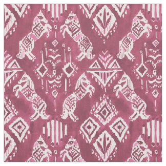 PFERDEWHO KANNTE rotes Ikat Boho Stammes- Muster Stoff