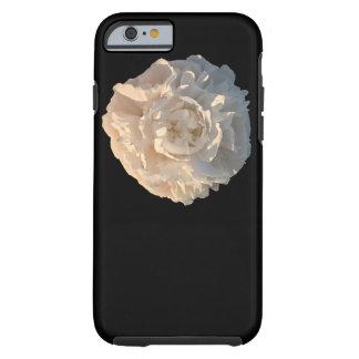 Pfingstrose auf schwarzem Hintergrund Tough iPhone 6 Hülle