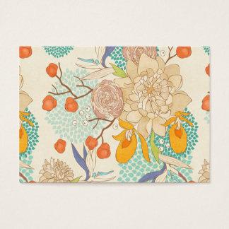 Pfingstrosen-Blumen-Muster-Chubby Geschäfts-Karte Visitenkarte