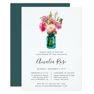 Pfingstrosen-Blumenstrauß-Taufe oder Karte