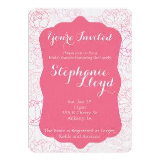 Pfingstrosen-Brautparty-Einladung 12,7 X 17,8 Cm Einladungskarte