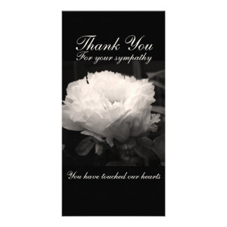 Pfingstrosen-danken BlumenFoto-Beileid Ihnen Photo Karten