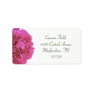 Pfingstrosen-Hochzeits-Adressen-Etiketten Adressetiketten