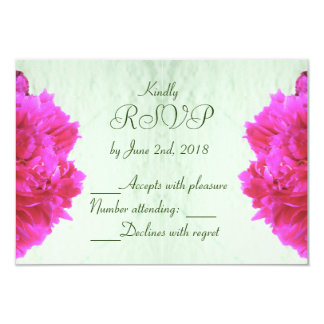 Pfingstrosen-Hochzeits-Wartekarte 8,9 X 12,7 Cm Einladungskarte