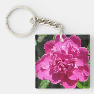 Pfingstrosen-hübsches Rosa Schlüsselanhänger