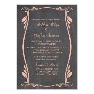 Pfirsich blühen Tafel-Hochzeit einladen 12,7 X 17,8 Cm Einladungskarte