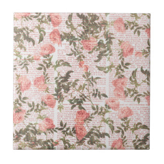 Pfirsich-Blumen auf Druck-Hintergrund Keramikkacheln