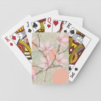 Pfirsich-Blüten-Muster Spielkarten
