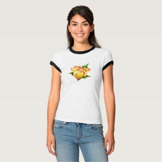 Pfirsich farbige hübsche Rosenknospe T-Shirt
