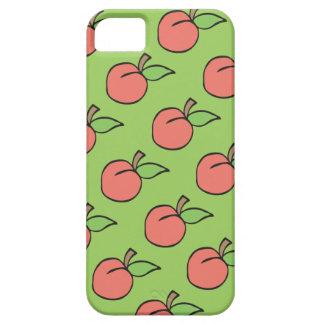 Pfirsich mit grünem Blatt Muster iPhone Kasten iPhone 5 Etui