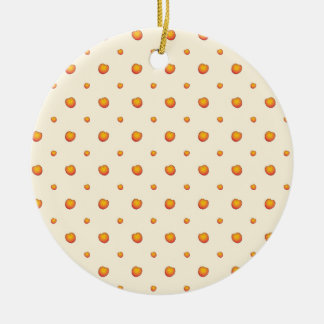Pfirsich-Muster Rundes Keramik Ornament