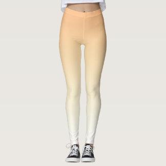 Pfirsich Ombre (Steigung) Designer-Gamaschen durch Leggings