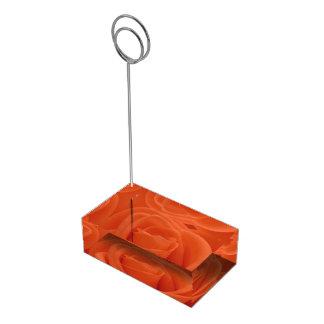 Pfirsich-Rosen-Blumenbild-Acryltabellen-Kartenhalt