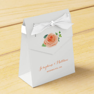 Pfirsich-Rosen-Hochzeit Geschenkschachtel