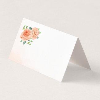 Pfirsich-Rosen-Raum-Platzkarten Platzkarte