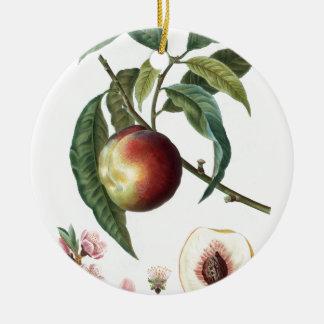 Pfirsich Rundes Keramik Ornament