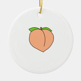 PFIRSICH-Shirts, Zusätze, Geschenke Keramik Ornament