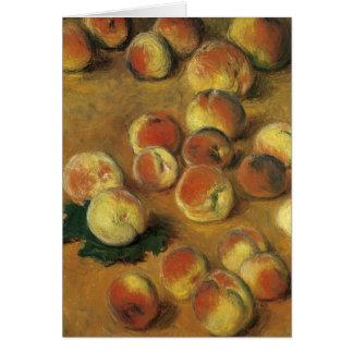 Pfirsiche durch Claude Monet Grußkarte