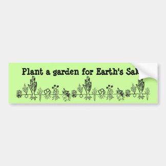 Pflanze ein Garten für Grund-Autoaufkleber der Erd Autoaufkleber