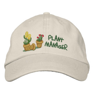 Pflanzen-Manager Bestickte Mützen
