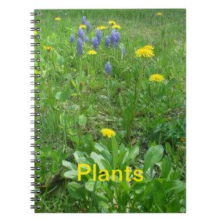 Pflanzen Spiral Notizblock