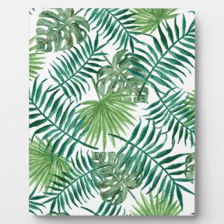 Pflanzen-tropisches botanisches Palmblatt Fotoplatte