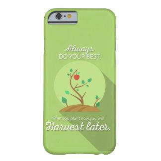 Pflanzen, was Sie grünen flachen Entwurf ernten Barely There iPhone 6 Hülle