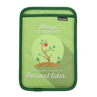 Pflanzen, was Sie grünen flachen Entwurf ernten iPad Mini Sleeve