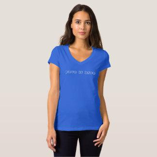 pflastern Sie es blau T-Shirt