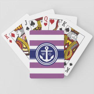 Pflaume lila, Marine-Preppy Spielkarten