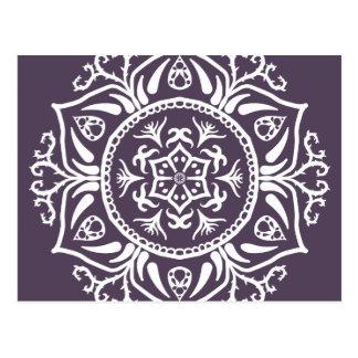 Pflaumen-Mandala Postkarte