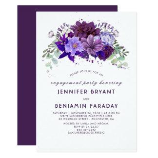 Pflaumen-violettes lila elegantes Verlobungs-mit 12,7 X 17,8 Cm Einladungskarte