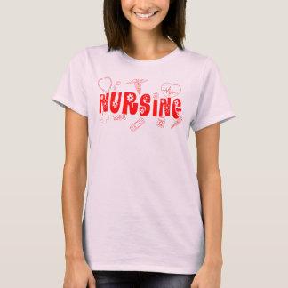 Pflege mit Blumen T-Shirt