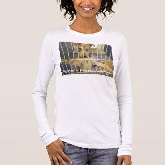 Pflege - Rettung - adoptieren Sie Damen-lange Langärmeliges T-Shirt