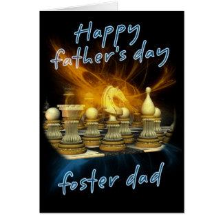 Pflegevati - der Vatertags-Karte - Schach