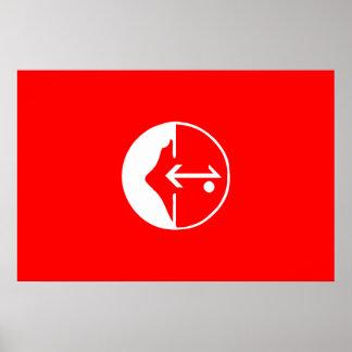 Pflp, politische Flagge Kolumbiens Posterdrucke