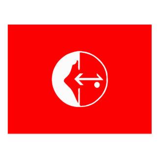 Pflp, politische Flagge Kolumbiens Postkarte