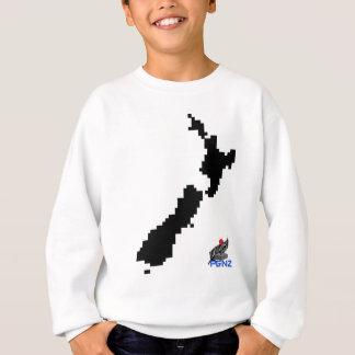 PGNZ Pixel-Neuseeland-Karte Sweatshirt