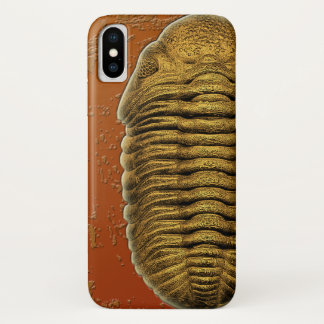 Phacops Rana Crassituberculata Fossil Trilobite iPhone X Hülle