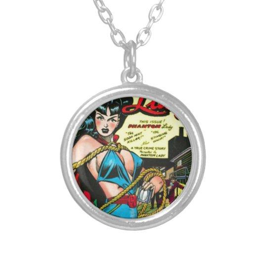 Phantomdame Halskette Mit Rundem Anhänger