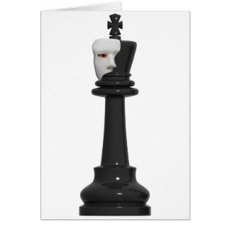 Phantomkarte schach-König-Geburtstag Karte