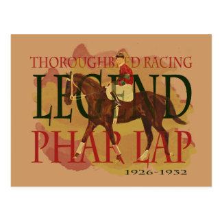 Phar Schoss - Thoroughbred-Pferderennen-Legende Postkarte