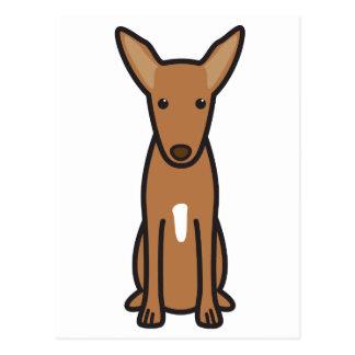 Pharao-Jagdhund-HundeCartoon Postkarte