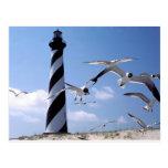 Phare de la Caroline du Nord de phare du Cap Hatte Carte Postale