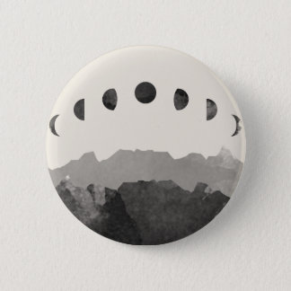 Phasen des Mond-Astronomie-Raum-Aquarells Runder Button 5,1 Cm